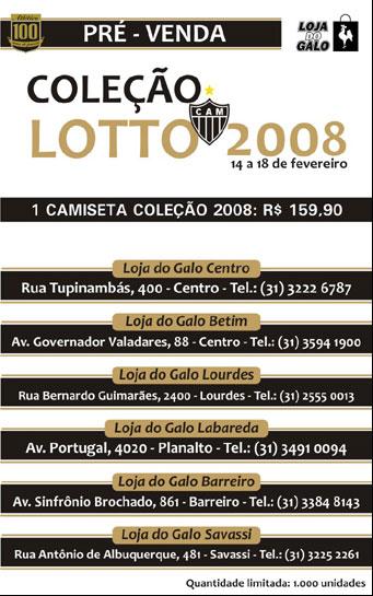 Pré-venda uniforme Lotto2008