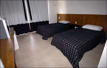 Hotel para o time profissional -Quartos