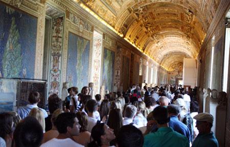 """Momento """"vida de gado"""" nos Museus Vaticanos"""
